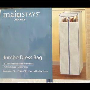 Jumbo Dress Bag / Portable  Closet Organizer White